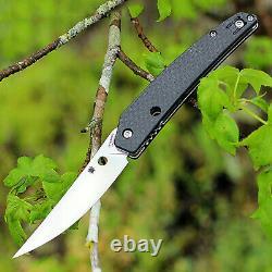 Spyderco C242cfp Ikuchi Flipper Folding Knife S30v Stainless Steel Carbon Fiber