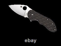 Spyderco Dice Folding Knife C182CFTIP XHP Plain Edge Blade Carbon Fiber Dealer