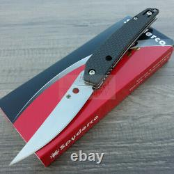 Spyderco Ikuchi Folding Knife 3.25 CPM S30V Steel Blade Carbon Fiber/G10 Handle