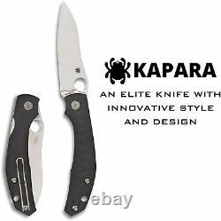 Spyderco Kapara Folding Knife 3.5 CPM S30V Steel Blade Carbon Fiber Handle