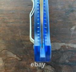 Spyderco Manix 2 translucent blue folding knife, excellent condition