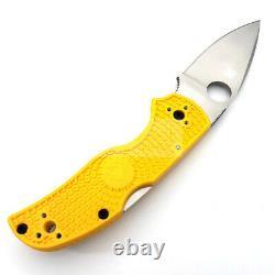 Spyderco Native 5 Salt Folding Knife 3 LC 200 N Tool Steel Blade FRN Handle