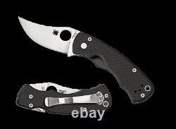 Spyderco Reinhold Rhino Folding Knife C210CFP, XHP PlainEdge Blade, Carbon Fiber