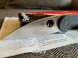 Spyderco Sliverax Folding Knife 3.5in S30V blade, Carbon fiber G10