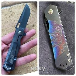 Steel Flame Hagikure Flipper Folding Pocket Knife CCKS Special Edition
