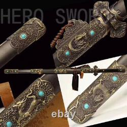 Traditional Handmade Folded Steel Chinese Sword Tang Dynasty Jian Full Tang