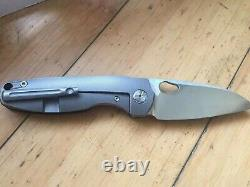 Twosun Carbon Fiber Titanium Front Flipper Pocket Folding Knife TS129-CF