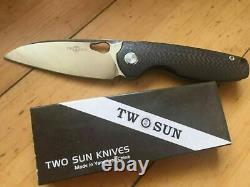 Twosun TS129, Front Flipper Carbon Fiber Titanium Pocket Folding Knife