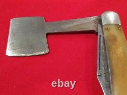 VINTAGE 1911-14 OLCUT UNION OLEAN NY USA KABAR HATCHET Folding POCKET KNIFE