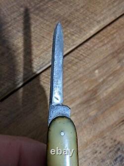 VINTAGE FOLDING POCKET KNIFE SHAPLEIGH HARDWARE D-E Early 1900's