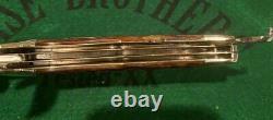 Vintage Case Tested Green Bone Folding Hunter Knife 6465 1920-39 4 Blade