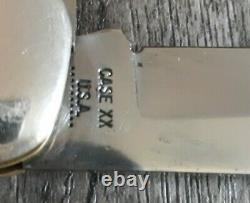 Vintage Case XX USA 10 Dot 1970 6265 SAB DR Folding Hunter Knife CV WithSHEATH