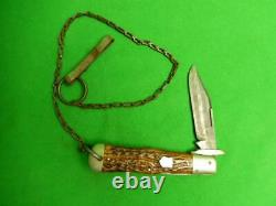 Vintage Cattaraugus King of the Woods Coke Bottle Folding Lock Back Knife 12839
