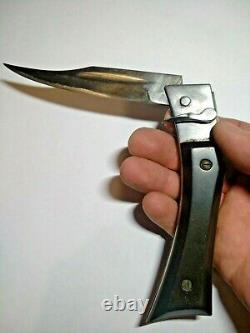 Vintage folding pocket knife of the USSR Semi-automatic zone the only copy