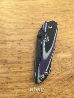 Warren Thomas Knives Liner Lock With Carbon Fiber/Titanium Blade G10 Folding Knife