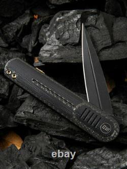 We Knife Co Angst Folding Knife 3 CPM S35VN Steel Blade Carbon Fiber/G10 Handle
