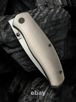 We Knife Esprit Folding Knife 3.25 CPM 20CV Steel Blade 6AL4V Titanium Handle