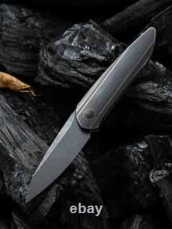 We Knife Void Opus Folding Knife 2.88 20CV Steel Blade Titanium/Carbon Fiber