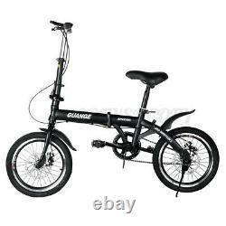 16 Ultra-léger High Carbon Steel Folding Riding Bike School Kids Bicycle