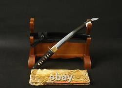 20'' Clay Tempered T10 Plied Steel Tanto Autodéfense Japonais Sword Samurai