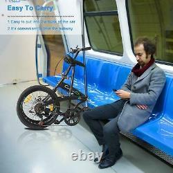 20in Vélo De Loisirs Pliant 7 Vélo De Vitesse En Acier Carbone Haute Vélo Adulte Non-dérapant