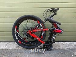 26suspension Complète Vélo De Montagne Pliant 21 Speed Carbon Steel Vélo Homme Mtb