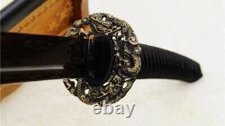 53 Acier Plié Nodachi Odachi Japonais Long Sword Reddish Black Blade Sharp