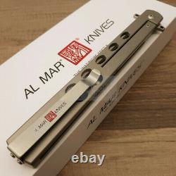 Al Mar Slimline Quicksilver Couteau Pliant 5 D2 Outil Steel Blade Titanium Handle