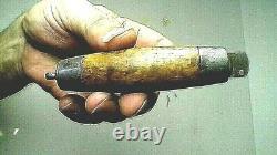 Antique 1874 Swedish Barrel Knife Wood/brass/fer Flip Pliant Joh Engstrom Suspendu