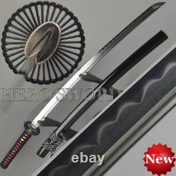 Argile Tempérée Acier Plié Épée Samouraï Japonais À La Main Katana Livraison Gratuite