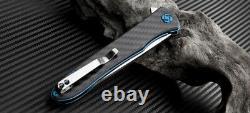 Artisan Cutlery Shark Folding Knife 4 S35vn Poignée En Fibre De Carbone À Lame Inoxydable