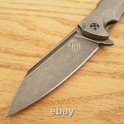 Bastinelli Créations Trigger Pliant Couteau 4 D2 Outil Lame En Acier Poignée En Titane