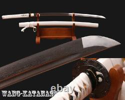 Bataille Prête Japonais Samurai Full-tang Katana Plié 1095 Acier Épeautre