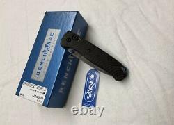 Benchmade Bugout 535-3 Poignée De Fibre De Carbone S90v Couteau Pliant De La Lame Satinée