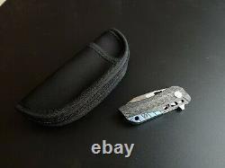 Bestech Engine Folding Knife 2.25 S35vn Blade Fibre De Carbone Poignée Utilisée