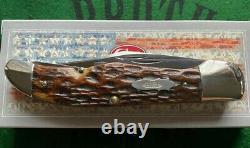 Boîtier Vintage Testé Green Bone Folding Hunter Knife 6465 1920-39 4 Blade