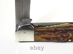 Boîtier XX 5265 Sab Red Stag 1940-1964 High Pull Rare Folding Hunter