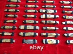 Boîtier XX Ensemble De Menthe Centenaire De 99 Couteaux 1889-1989 Avec Étui Pliant Original
