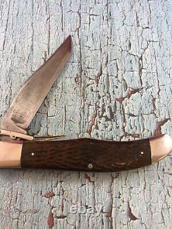 C. 1920s Low Excellent Ka-bar Bone Folding Lock Guard Patent 1923 Tête De Chien