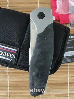 Couteau D'usine Mkad Empat Pliant Couteau M390 Lame Titanium Et Fibre De Carbone