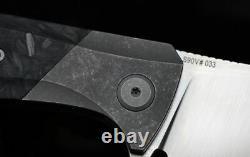 Couteau D'usine Mkad Marun Pliant Couteau S90v Lame Titanium Et Fibre De Carbone