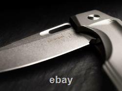Couteau De Pliage Boker Plus Warbird Frame 3.75 D2 Tool Lame En Acier Poignée En Aluminium