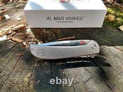 Couteau De Pliage De Hawk Ultra-léger Al Mar 2.75 D2 Tool Lame En Acier Poignée En Titane