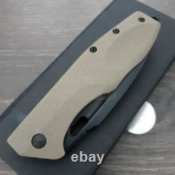 Couteau De Pliage Tactique Caracal Boker 3.5 D2 Tool Lame En Acier Poignée G10 Noir