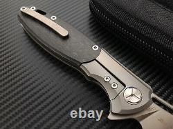Couteau De Pliage Twosun Flipper S90v Lame D'acier Fibre De Carbone + Poignée De Titane