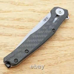 Couteau Pliant À Tolérance Zéro 3.5 Lame D'acier 20cv Fibre De Carbone / Poignée De Titane