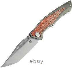 Couteau Pliant Bestech Togatta 3,75 M390 Lame En Acier Titanium/carbon F Poignée