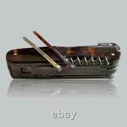 Couteau Pliant De Poche 1880-1920 Antiquaire Tchèque / Allemand Multi-lames (17+2)