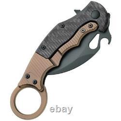 Couteau Pliant Fox Karambit 2.5 Lame D'acier Elmax, Poignée De Titane En Fibre De Carbone