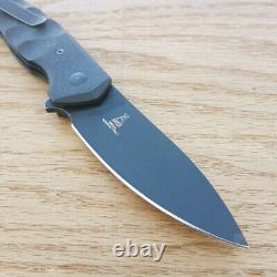 Couteau Pliant Fox Ziggy Linerlock 3,13 N690co Poignée En Fibre De Carbone De La Lame D'acier
